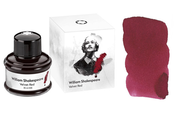 Schreibtinte Montblanc Limited Edition Shakespeare Velvet Red im 35 ml Glas